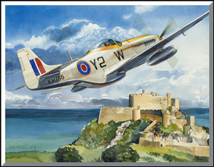 ;Mustang Over Mont Orgueil; By Rich Thistle ©