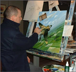 Rich Thistle at His Easel